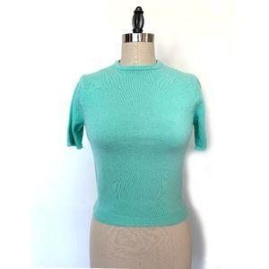 Vintage Sea Foam Pin Up sweater Top